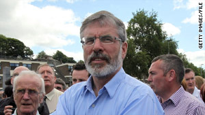 Sinn Fein leader Gerry Adams, seen in a June photo, plans to run for parliament in the Irish Republic.