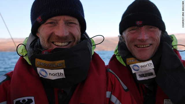 "The crew of the ""Northern Passage"" circled the North Pole in three and a half months."