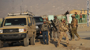 NATO troops arrive at the scene of a suicide attack last week in Kabul, Afghanistan.
