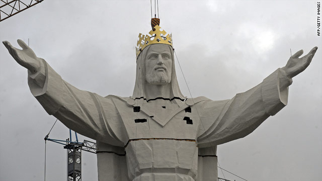 The statue is 33 meters high -- one meter for every year of Jesus' life.