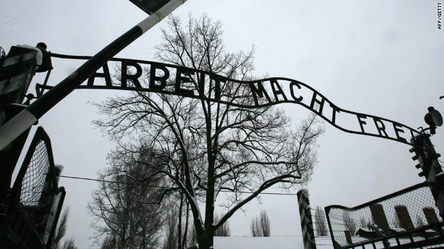 "Three men have been charged in connection with the theft of the Auschwitz sign ""Arbeit Macht Frei"" or ""Work Sets You Free."""