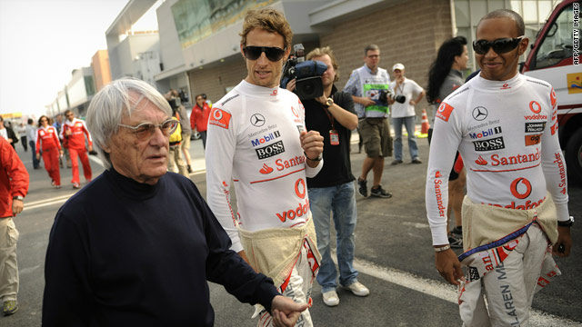 A file image of Formula One boss Bernie Ecclestone from October 21, 2010, a month before he was assaulted in London.