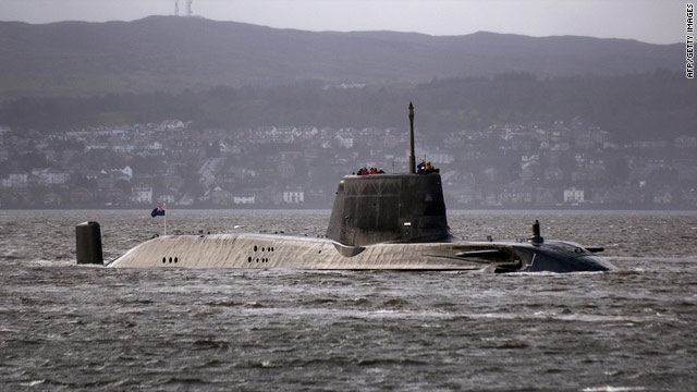 A file image of the British Royal Navy nuclear submarine, HMS Astute, taken on November 20, 2009.