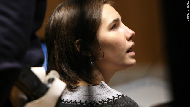 Amanda Knox, pictured during her court appearance on Saturday.