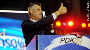 Current PM Hashim Thaci has campaigned on a platform of reform and visa liberalization.