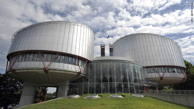 A view of the European Court of Human Rights in Strasbourg, France.
