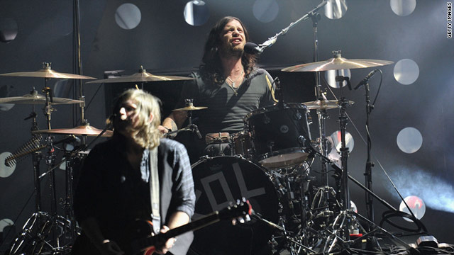 U.S. rockers Kings of Leon were scheduled to play London's O2 arena Tuesday night.
