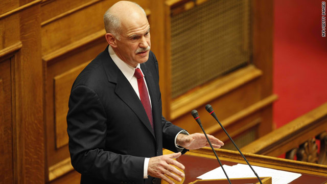 The Greek Prime Minister George Papandreou has told his cabinet that 2011 will be the last year of recession for the country.