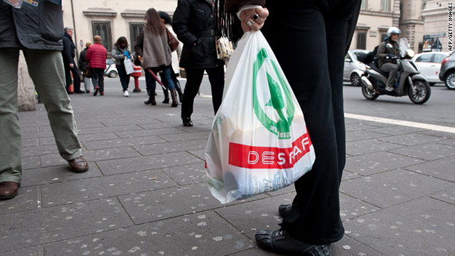 Italy is banning plastic bags from shops on January 1 -- every Italian uses on average 300 plastic bags a year.