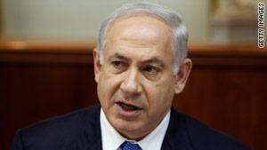 Israeli Prime Minister Benjamin Netanyahu speaks to the Israeli cabinet on Sunday.
