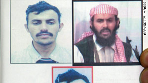 A Yemeni Interior Ministry document shows images of Qassim al-Raimi.