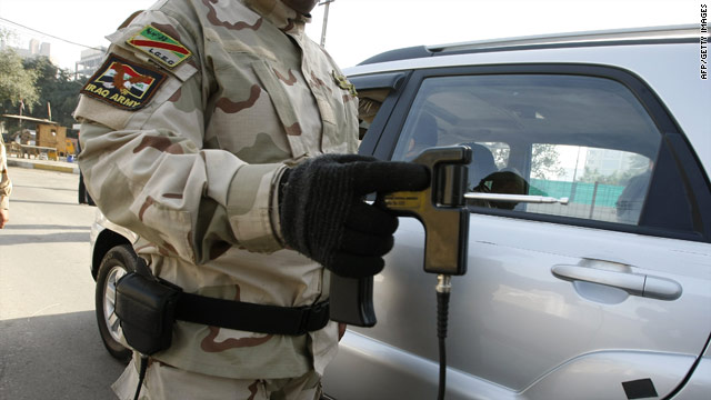 The handheld ADE651 has been used in Iraq and Afghanistan to detect explosives.