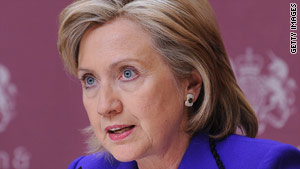 "Secretary of State Hillary Clinton says Iran should face consequences for its ""defiance of international obligations."""