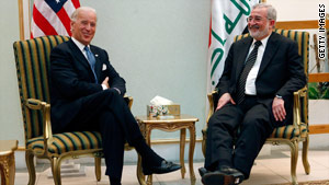 Vice President Joe Biden met last month with officials in Iraq amid growing tensions over plans to ban election candidates.