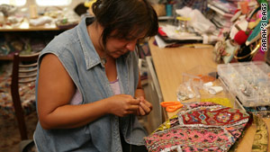 Lebanese fashion label Sarah's Bags has had huge success employing female prisoners to sew and embroider accessories.