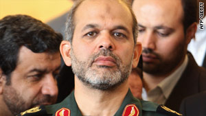 Defense minister Ahmad Vahidi, pictured last September, says one of the missile systems can destroy tanks.
