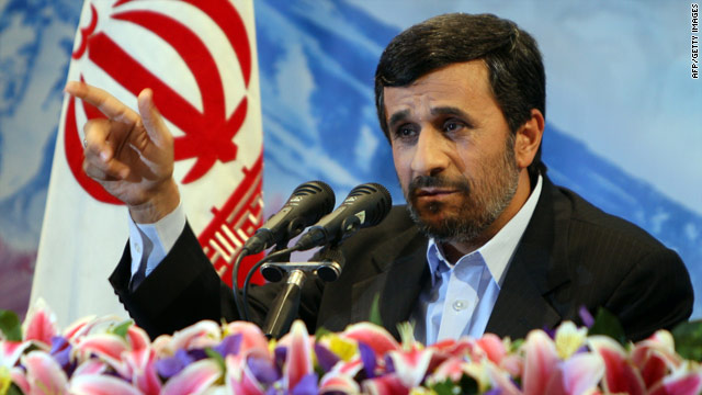 Iranian President Mahmoud Ahmadinejad made his comments in a televised news conference Tuesday.