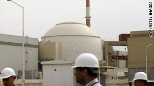 The reactor of Bushehr nuclear power plant at the Iranian port town of Bushehr.