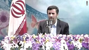 Iranian President Mahmoud Ahmadinejad has blamed problems in Afghanistan on foreign troops.