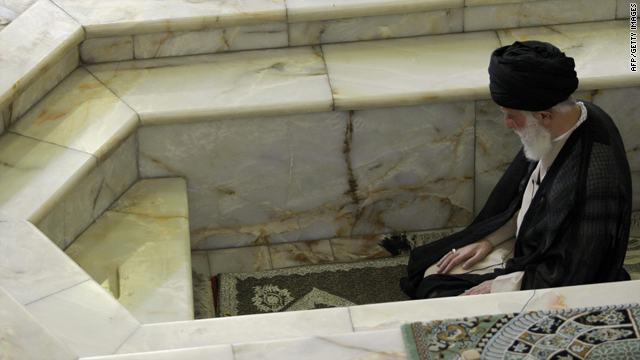 Iran's supreme leader Ayatollah Ali Khamenei leads the weekly Muslim Friday prayers at Tehran University on June 19, 2009.