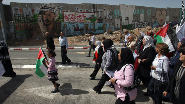 Palestinians have protested each week against the 700-kilometer wall and fence that separates Israel from the West Bank.