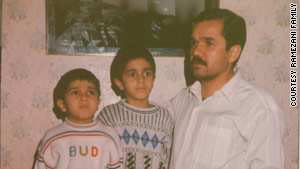 Ramin, pictured in the center of this undated family photo, was one of the first demonstrators killed during the June 2009 protests.