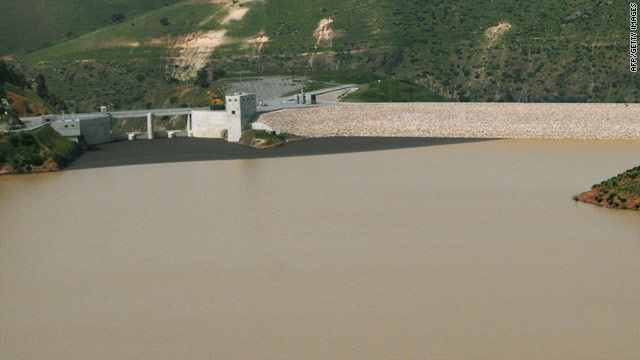 Image of Moulay Abdellah lake taken on March 17, 2010, where the sheikh's glider went down.