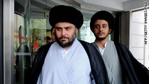 Muqtada al-Sadr, seen in Istanbul, Turkey, in May, is back in the spotlight in Iraqi politics.