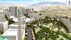 The city of Rawabi will be built near Ramallah in Palestinian territory.