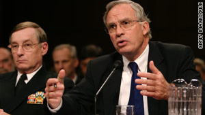 "Then-CIA chief Porter Goss, here in 2005, did ""sympathize"" with the motives in destroying the tapes, an official says."