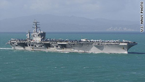 The USS Eisenhower had just finished a series of carrier aircraft flight operations when the Iranian plane approached.