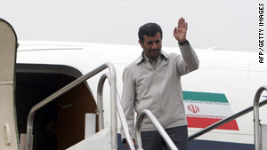 Iranian President Mahmoud Ahmadinejad departs Tehran for the United States on Sunday.