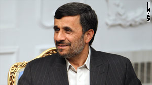 Pres. Ahmadinejad, pictured here May 18, was in Khorramshahr to mark its liberation from Iraqi occupation.