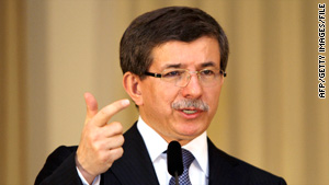 """Israel thinks it's above the law,"" Turkish Foreign Minister Ahmet Davutoglu said."