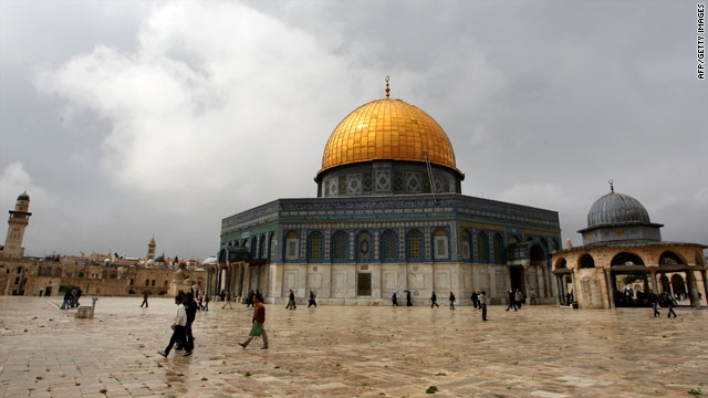 A file photo of the Dome of the Rock at the Al-Aqsa Mosque compound in Jerusalem's old city taken March 26, 2010.