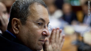 Israeli Defense Minister Ehud Barak attends the weekly cabinet meeting on June 13.