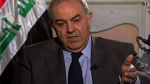 Allawi says the departure of American troops would cause a further deterioration of security in Iraq.