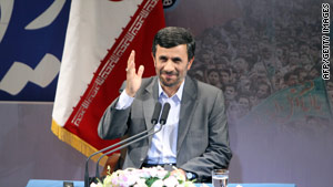 Iranian President Mahmoud Ahmadinejad says Monday that Western powers should put 'their bullying policies aside.'