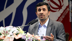 Ahmadinejad said only U.S.-backed terrorists could be behind such bombings as the ones in Zahedan, Iran.