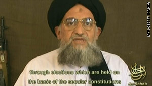 An image taken from a video broadcast by As-Sahab Media in 2006 shows fugitive Ayman al-Zawahiri.