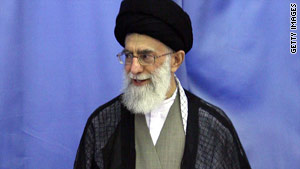"Ayatollah Ali Khamenei said Iran would not allow ""arrogant powers"" to obtain their objectives."