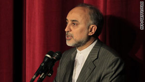 Iran's atomic organization chief Ali Akbar Salehi, pictured here speaking in Tehran in April.