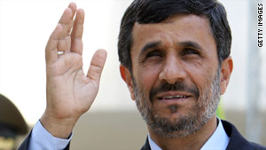 Iranian President Mahmoud Ahmadinejad said he is ready to answer questions about his country's nuclear program.