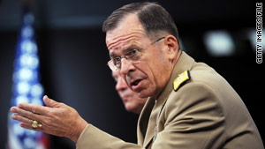 Adm. Mike Mullen, who is on a 10-day trip meeting with leaders around the world, arrived in Baghdad on Tuesday.