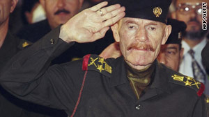 Izzat Ibrahim al-Douri photographed in Baghdad, Iraq in 1999.
