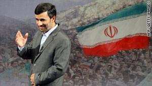 "Iranian President Mahmoud Ahmadinejad offered to hold talks with President Obama ""in front of the media, of course."""