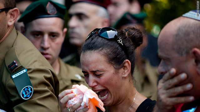 A relative mourns the Israeli officer killed Tuesday.