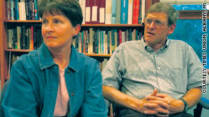 Libby and Tom Little in a 2001 photo. Libby Little said her husband was deeply devoted to the Afghan people.