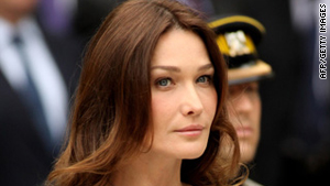 French first lady Carla Bruni-Sarkozy.