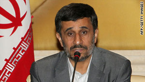Iranian President Mahmoud Ahmadinejad said direct talks between Israel and the Palestinian Authority would fail.